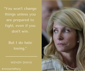 Wendy Davis w hashtag